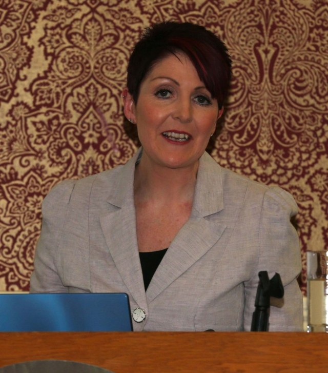 Shirley Mc Donald on Engineers Ireland who addressed members at the group's Open Evening.