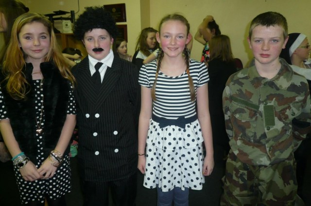 Libbie Harkin, Peadar Gallagher, Lauren Hall and Jack    Gallagher as Elsa, Max, Liesl and Rolf.JPG