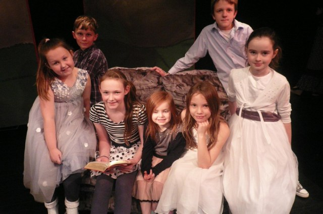 Paddy, Amy, Lauren, Ellie, Jenn, Celina and Casper as The    Von Trapp children.