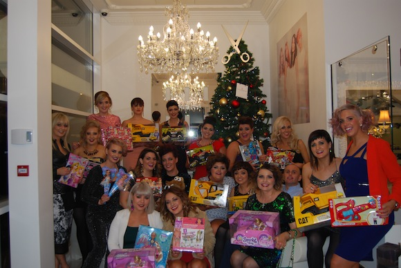The Patrick Gildea team and their toy donations for SVP!
