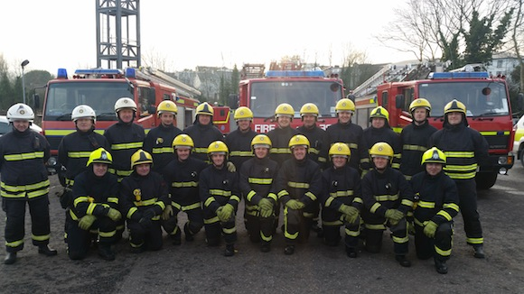 The new recruits are all smiles but only after being put through their paces.