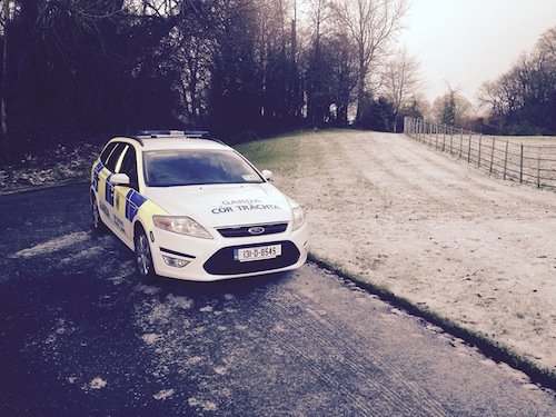 Gardai arrive at Oakfield park to examine the discovery.