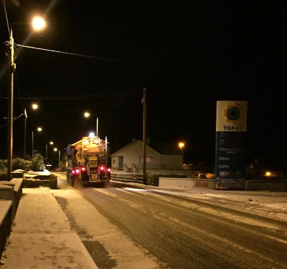 This was the scene in Loughanure just before midnight. Pic Eoin McGarvey