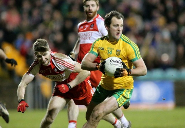 Michael Murphy in full control for Donegal against Derry.