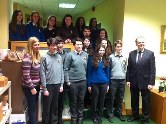 Minister Joe McHugh meets the students behind BEO