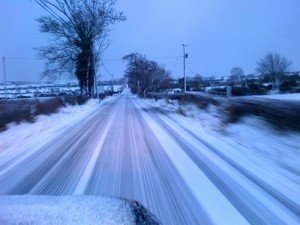 Further falls of snow are likely on Donegal's roads tonight and tomorrow morning. Pic Donegal Daily.