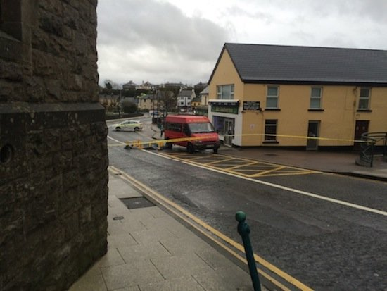 The scene of this morning's fatal accident in Ballyshannon.
