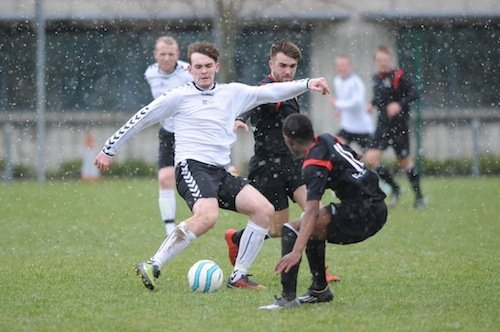 Action from yesterday's game at the LYIT.