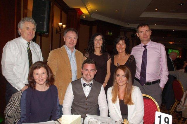 The LYIT Sports Performance Lab table including at front Lynn Ramsay, Ronan Doherty and Maria Faulkner with at back John Andy Bonar, Michael Margey, Martina Sandilands and Humphrey Murphy.