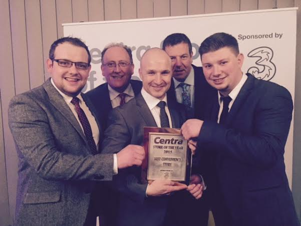 Winners: The Kelly's Centra Mountain Top team