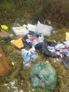 Officers are going through the rubbish to find its source.