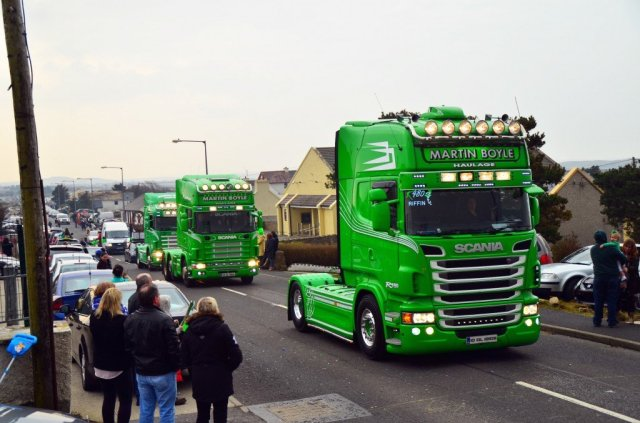 Martin Boyle has the right colour trucks for the day that's in it!