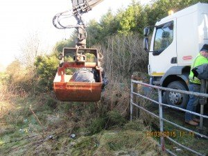 The illegal site is cleaned up by Donegal County Council this morning.