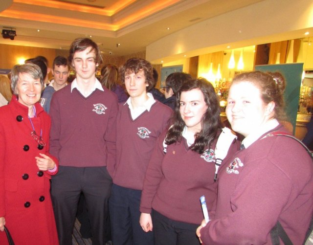 Loreto Convent, Milford with their Guidance Counsellor Ms Mc Gee