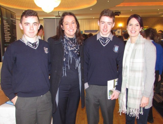 Mulroy College students with their Guidance Counsellor, Ms Crawford and colleague