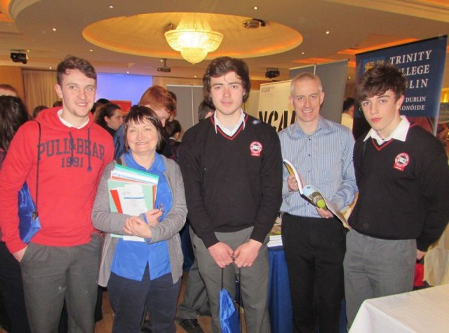 Rosses Community College students with their Guidance Counsellor Ms Eilis Coakley and Trinity College representative
