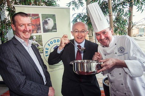 Caption Caption: Chef Anthony Armstrong pictured with Michael Tunney, Head of Enterprise, Donegal Local Enterprise Office (centre) and Martin Lynch of The Food Coast, Donegal, Steering Committee.
