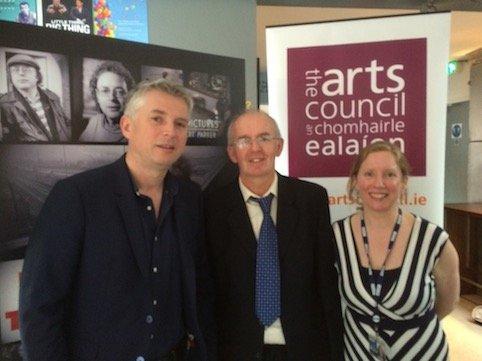 Steve Carson (Head of Production BBC), Noel Ó Gallchóir &  Róisín Ní Chéileachair (Leas-Eagarthóir BBC Gaeilge)