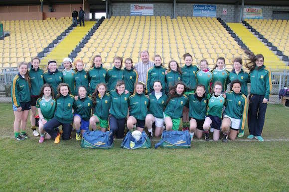 Cllr Brogan with the Co Donegal U14 County Girls team
