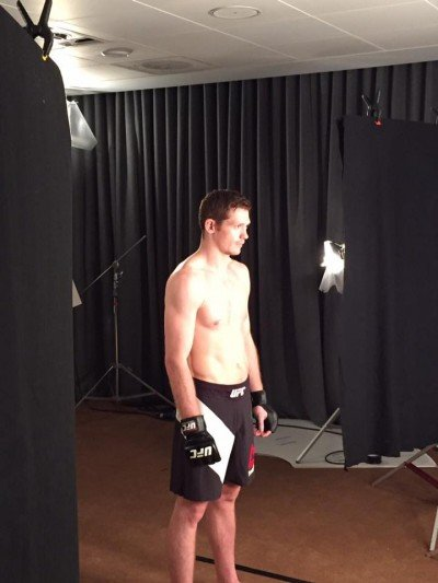 Joseph Duffy having a photo shoot as the countdown to Saturday's fight intensifies.