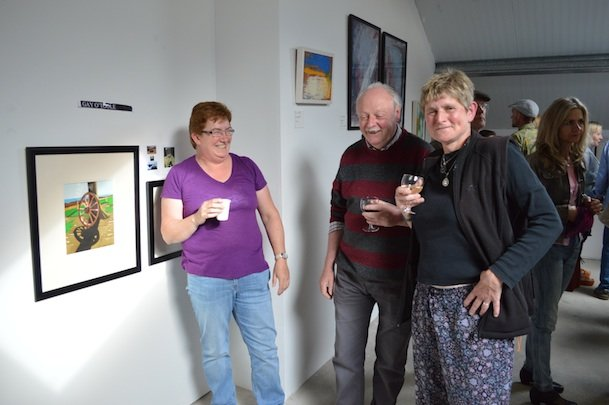 new size Fiona Sweeney, Artist Gay O Toole and Irene Deisler at the Exhibition