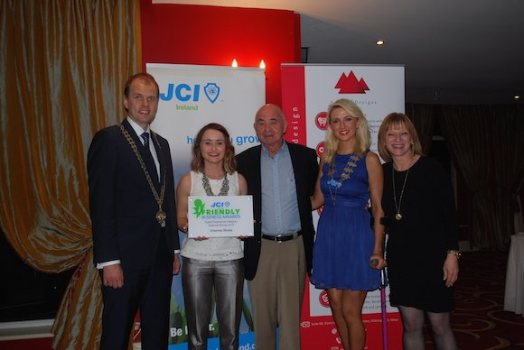 Jani Hirvonen JCI Ireland National President 2015, Maria Greene , Alfie Greene , Greenes Shoes, Niki Bradley President JCI Donegal and Evelyn Mc Glynn from Evelyn Mc Marketing!
