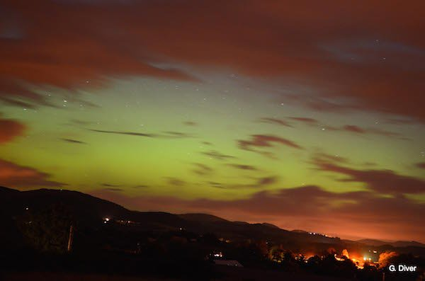 Geraldine's stunning picture of the Northern Lights above Churchill this evening.