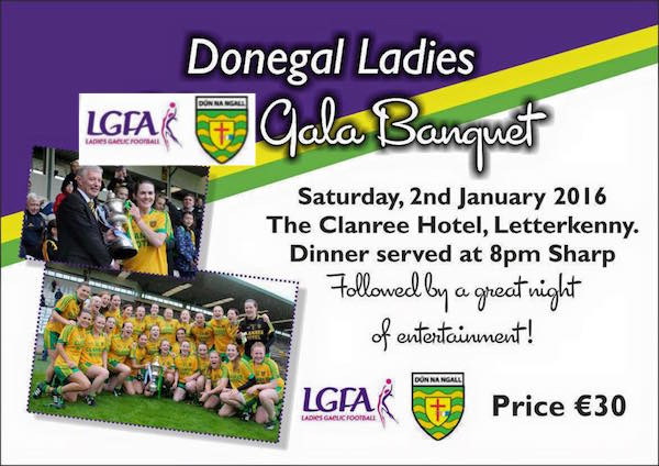 DONEGAL'S ALL-IRELAND U21 CHAMPION LADIES TO BE HONOURED AT GALA