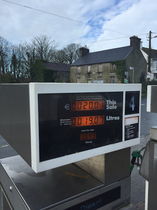Our Fuel watch brought us Fanad this week where the diesel is priced at a very competitive 104.9 at Clintons of Tamney located in the centre of the Fanad Peninsula .