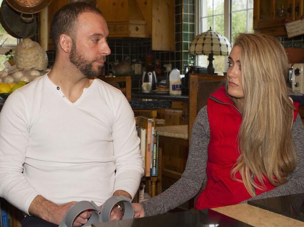 Davitt Walsh and girlfriend Stephanie Knox speaking about the tragic events at Buncrana Pier.. (North West Newspix)