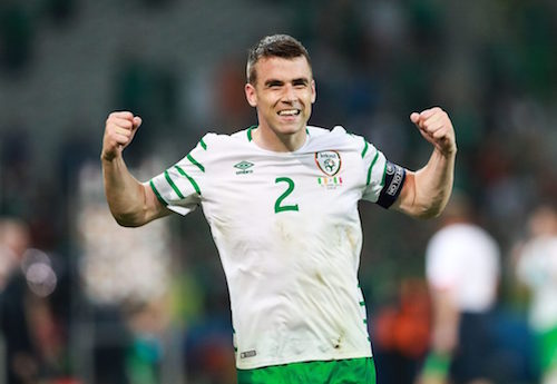 Coleman celebrates the win over Italy.