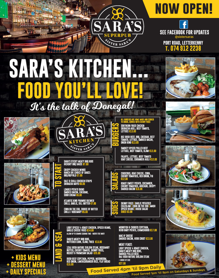 Competition Win A Meal For Two At Sara S Kitchen In Sister