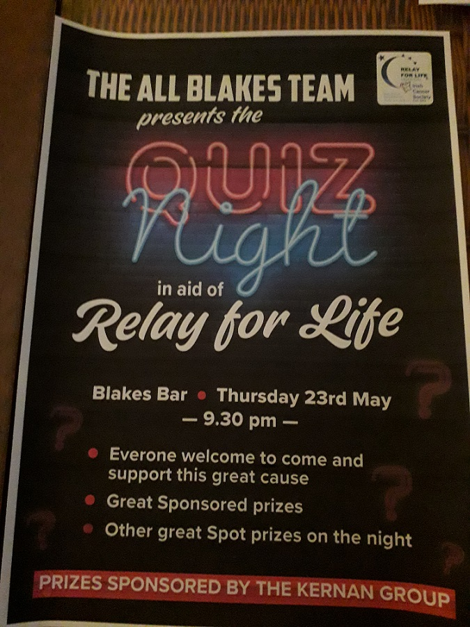 Time to get behind the 'All Blakes' Big Quiz night
