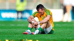 Karl Lacey is dejected after the 2014 All-Ireland final defeat by Kerry
