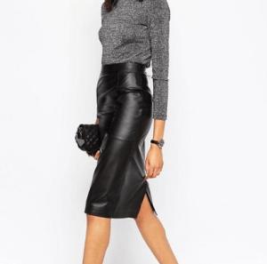 ASOS Midi Pencil Skirt in Leather £85.00