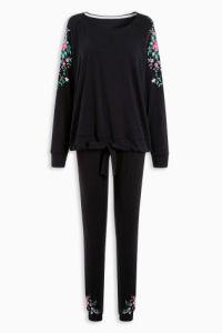 Next Black Embroidered Legging Pyjama €39