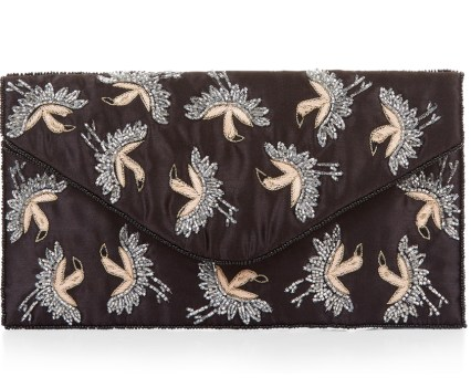 New Look Black Bird Print Clutch €18.74