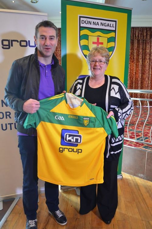 Donegal Manager Rory Gallagher with Donegal County Secretary Aideen Gillen