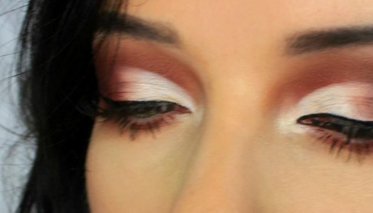 Sharpen your eye makeup with a half-cut crease