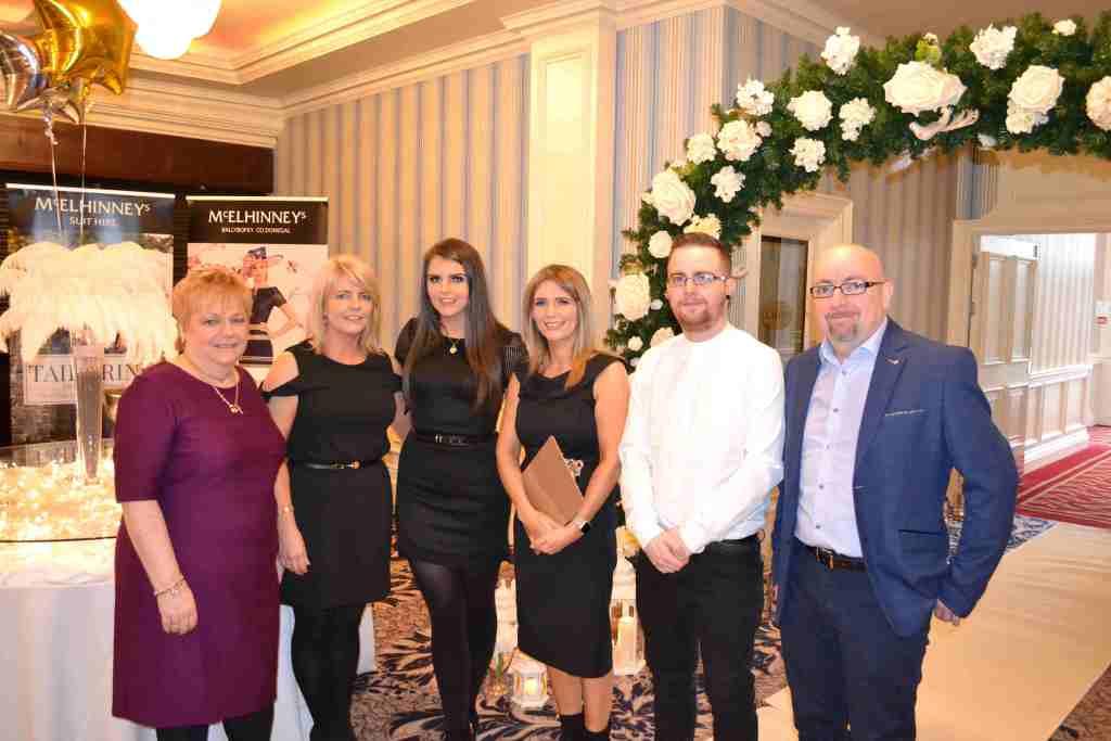 Team Bride - Rita McLaughlin, Claire Carins, Laura Cairns, Deirdre McLaughlin, Daniel McLaughlin and Stephen McLaughlin