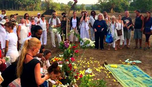 Flowers laid at vigil in India to remember Danielle McLaughlin