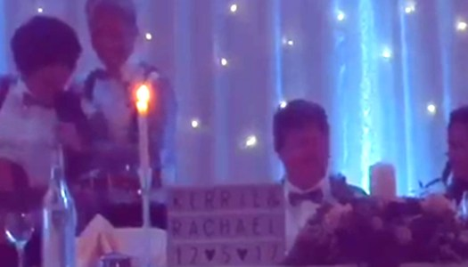 WATCH: Bridesmaid sings 'Perfect' speech at Donegal wedding