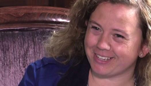 WATCH: Glenda Boyle shows no stress before 'tough rally'