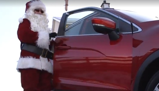 Santa tries out new transport to tackle Donegal's frosty roads