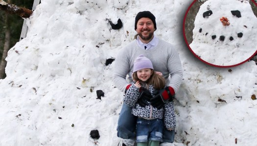 Dad and daughter build Ireland's biggest snowman to share inspirational message