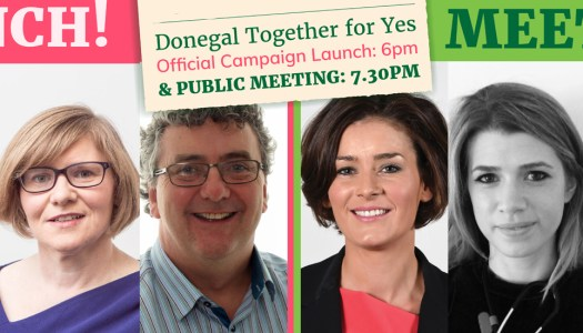 Donegal Together For Yes to hold Official Campaign Launch