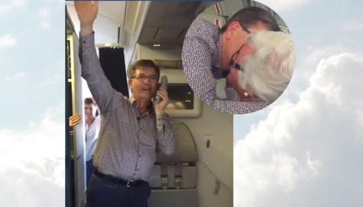 Watch: Daniel fan delighted by in-flight birthday concert