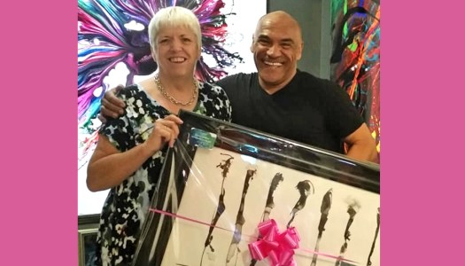 NW Breast Cancer Ball gifted with €5,200 Kevin Sharkey painting