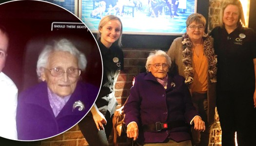 Never too old for firsts! Ruby (103) enjoys first trip to the cinema in 80 years
