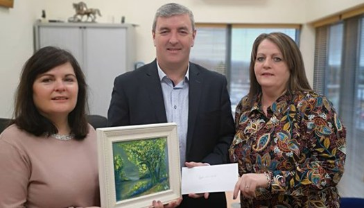 Art auction raises €600 for Ballybofey woman's cancer fund